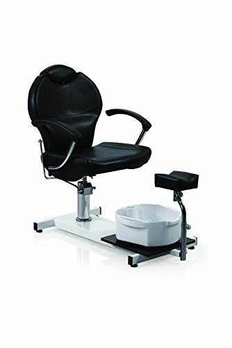 Eastmagic Pedicure Station Hydraulic Chair & Massage Foot Spa Beauty Salon Equipment (Black)