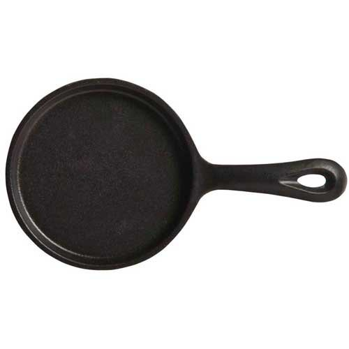 World Tableware Round Cast Iron Skillet with Handle, 5 inch -- 12 per case.