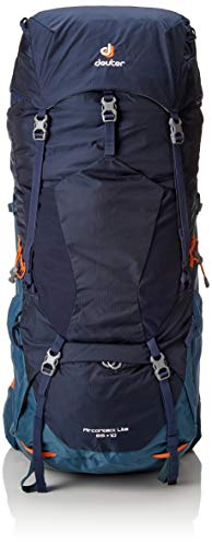 - Deuter Aircontact Lite 65+10 Backpacking Pack, Navy/Arctic