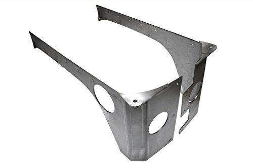 EVO-1070-4D 4dr. Rear RockSkin Corners, Raw - Accessories Evo Rear