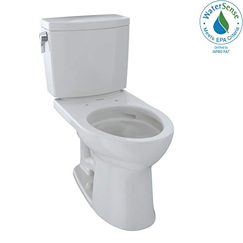 TOTO  CST454CUFG#11 Drake II 1G Two-Piece Elongated 1.0 GPF Universal Height Toilet with CEFIONTECT, Colonial White