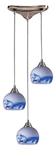 Mela 3 Light Pendant in Satin Nickel and Mountain ()
