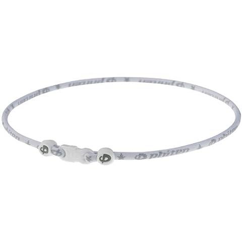 Phiten Star Sport 18 White Titanium Necklace - Titanium Sport Health Necklace