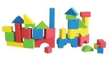 Educolor Foam Blocks, 80 Pieces by (Educolor Blocks)