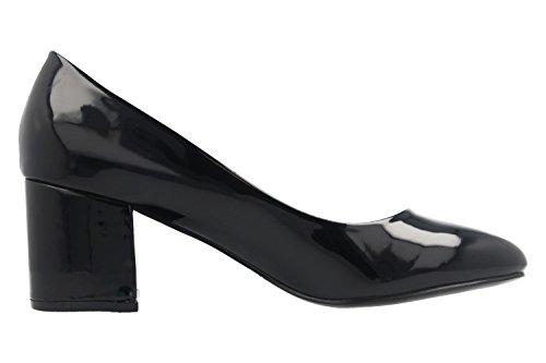 Montatori Calzature Sesy - Pumps Donna - Scarpe Con Vernice Nera Oversize