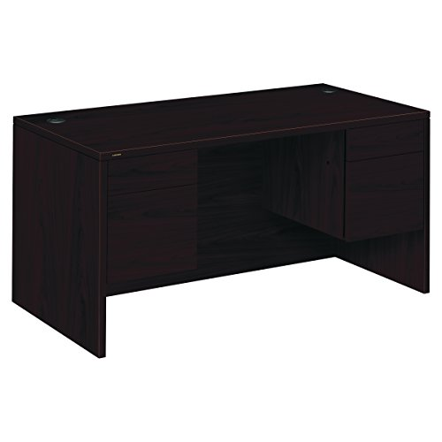 hon slp desk com double classic pedestal inch metro series by amazon mahogany