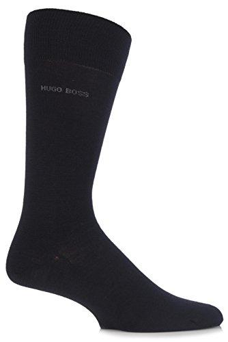Hugo Boss Men's 1 Pair John Plain Finest Wool and Soft Cotton Socks 8-9 Black by Hugo Boss (Image #1)