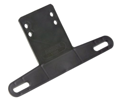 Mounting Plate Assembly - Wesbar 003211 Plastic Bracket License Plate, Black