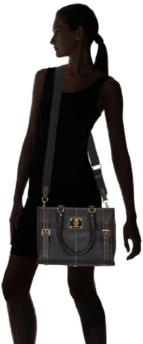 Bogner Asas Swift Lona Bolso Leather Con 1113801 Para Negro Mujer De r5rXUqw