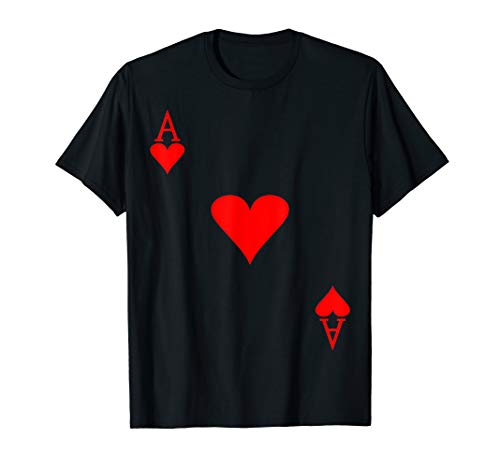 Lovely Red Ace of heart, Deck Card Halloween Costume Party]()