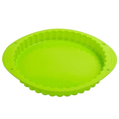 Webake Tart Pan Silicone Pie/Flan Pan 9.5 Inch Quiche Baking Dish Non-Stick Pizza Pie Mold ()