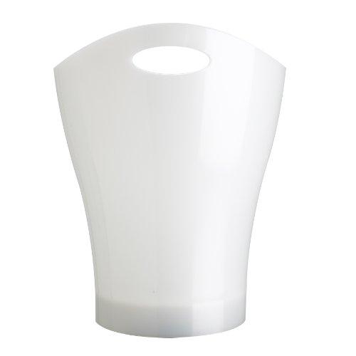 Umbra Garbino Polypropylene Waste Can, Metallic White