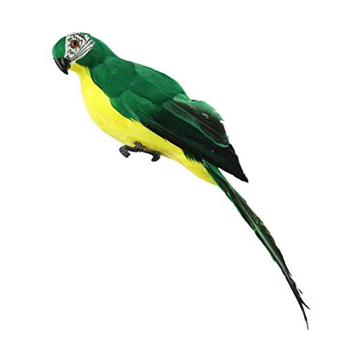 Fan-Ling Colorful Fake Parrots,Artificial Birds Model Outdoor Home Garden Lawn Tree Decor,Garden Yard Outdoor Indoor Art Crafts Decor,Cute Craft Decorative Ornaments for Home Table Decoration (E)