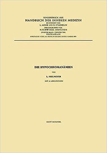 Book Die Hypochromanamien (Handbuch der inneren Medizin)
