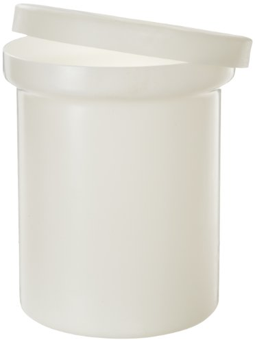 - Dynalon 625124 LDPE Cylindrical Lab Storage Tank with Cover, 6 Gallon Capacity