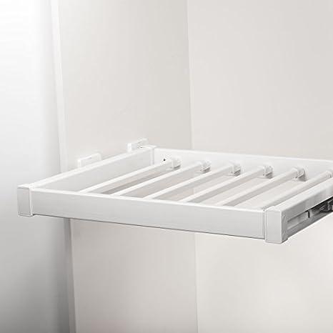 SO-TECH® Línea extraible percha pantalón blanco 90 cm con ...