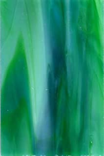 """product image for Kokomo Opalescent Combination - Blue Green- Stained Glass Sheet - 8"""" X 12"""" (.67sf)"""