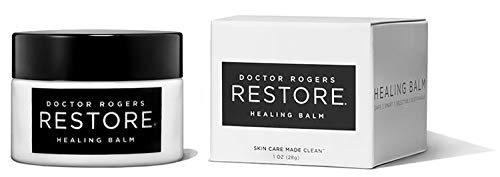 Doctor Rogers RESTORE Healing Balm – Plant-Based, Hypoallergenic, Dermatologist Created 1 oz Glass Jar