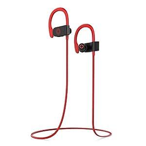 dodocool Touch-sensitive Wireless Stereo In-Ear Earphone IPX5 Waterproof HD Mic CVC 6.0 Noise Cancellation Handsfree Call Red