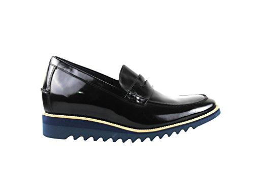 Realizzata di Casual in Aumentato Pelle Interno ZERIMAR Colore Stile cm 8 100 Nero Qualità di Alta Scarpe 42 Pelle con Taglia x8w6gnw0v