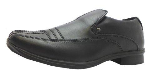 Ubershoes , Jungen Loaferschuhe Schwarz