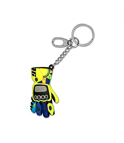 VR46 – Rossi keyhoder Unisex 3D Glove, Yellow, Uni Size