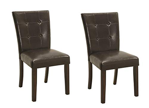 Milton Dining Side Chairs with Plush Upholstery Brown and Cappucino (Set of 2)
