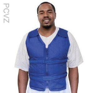 Cool58 Zipper Vest with four (4) 0.88 lbs. Phase Change cooling packs – Blue – L/XL by Polar Products Inc.