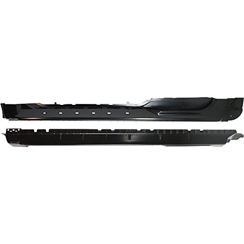 (Rocker Panel for Ford F-150 98-03 Right and Left Super Cab (3/4-Door) Set of 2 Steel)