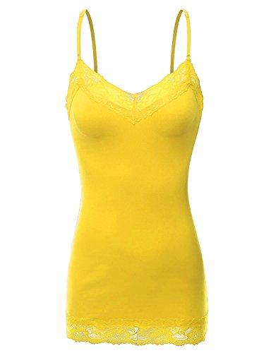 yellow spaghetti strap - 3