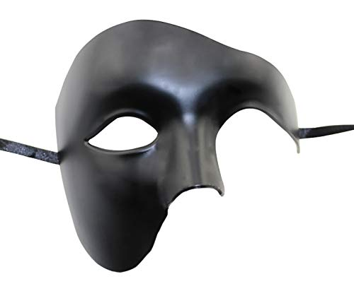 KEFAN Mens Mask Halloween Mask Masquerade Mask Phantom of The Opera Half Face Mask -