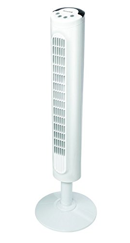 Honeywell HYF023W Comfort Control Tower Fan, Wide Area Cooling, White by Honeywell