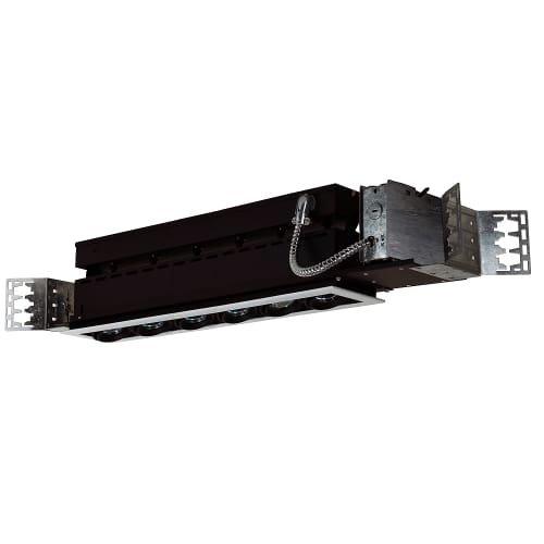 Jesco Lighting MMG1650-6EWB Mini Modulinear Directional Lighting For New Construction, 50W MR16 6-Light Linear, Black Interior With White Trim from Jesco Lighting Group