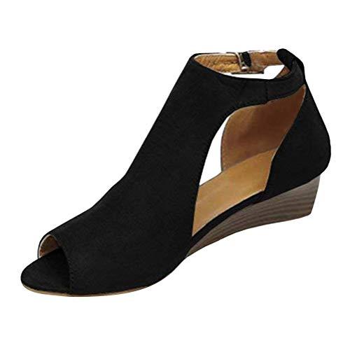 Tacco Shoes Eleganti Sexy Alto retr Sandali Shoes Donna Zeppa Minetom Open Casuale Toe Tacco Moda xw0WHz