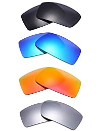 4 Pairs of Polarized Replacement Lenses for Oakley Gascan Sunglasses Frames NicelyFit