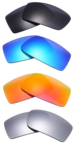 NicelyFit 4 Pairs Polarized Replacement Lenses for Oakley Gascan Glass Sunglasses ()