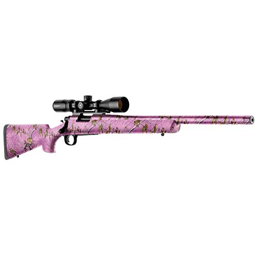 GunSkins Hunting Rifle Skin Camouflage Kit DIY Vinyl Wrap with precut Pieces (Realtree Wild Orchid)