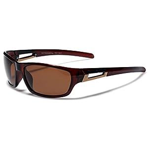 Small Nitrogen Polarized Sport Sunglasses - Brown