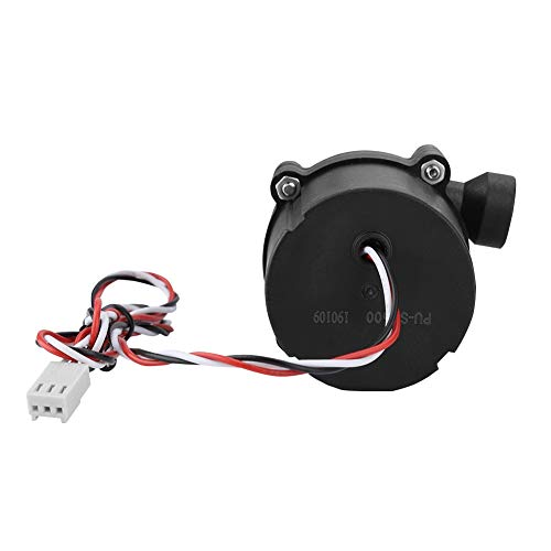 (12V Water Pump,Brushless DC Current 3-Pin Plug DIY Quiet Water Cooling Pump,Ceramic Bearing,Graphite Bushing,Widely Used in Pets,Evaporative Coolers,Circulating Antifreeze,Hydroponics Systems)