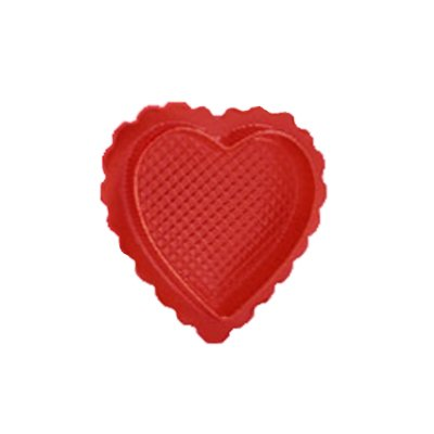 Valentines Day Candy Box - Red Heart Shaped Candy Box Clear Lid- Pack of 5 DIY
