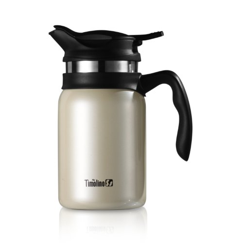 (Timolino VPJ-60TEMIW 20-Ounce Majestica Coffee and Tea Maker, Ivory White)