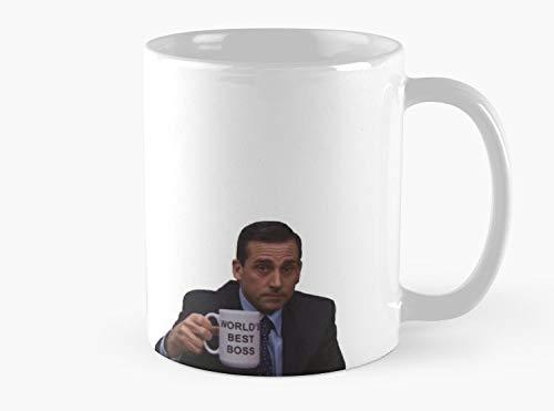 Michael Scott World's Best Boss Mug Mug Mug Coffee Mug - 11 oz Premium Quality printed coffee mug - Unique Gifting ideas for Friend/coworker/loved ones