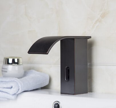 Aquafaucet Automatic Touchless Sensor Waterfall Bathroom Sink Vessel Faucet Oil Rubbed Bronze
