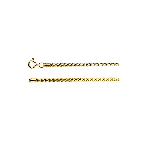 (2.75mm Popcorn Silver Chain in 18K Yellow Gold Vermeil)