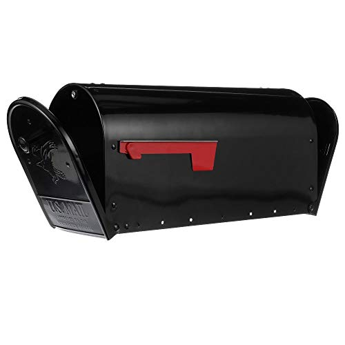 - Gibraltar Mailboxes OM160B01 Outback Double Door, Large Capacity Mailbox, Black