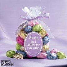 Foil Santa Chocolate - See's Candies 8 oz. Milk Chocolate Foil Eggs