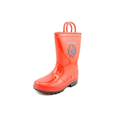 Marvel Spiderman Lighted Rain Boots, Red, 9 Toddler