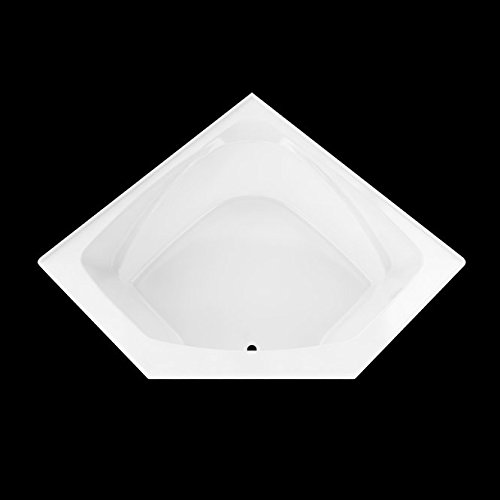 NEPTUNE ENTREPRENEUR EDORA 5454 CORNER DROP-IN PODIUM SOAKER TUB WITH INTEGRATED TILING FLANGE, 53-7/8