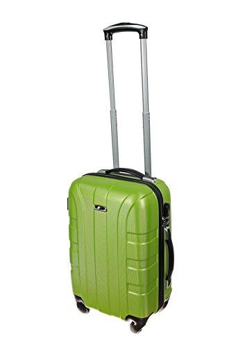 P-Collection Koffer Trolley GRÜN Handgepäck Grösse M Hartschale 4 Rollen