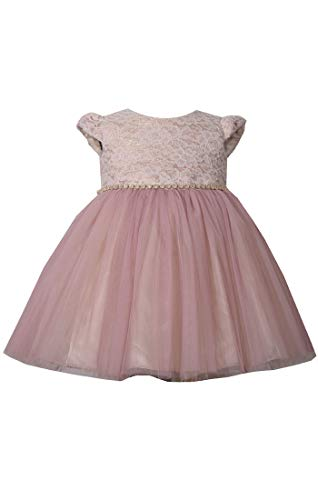 Bonnie Jean Girl's Pink Dress, Ballerina Special Occasion Formal Lace Dress for Toddler and Little Girls (6)
